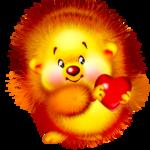 Ёжики Смешной ёжик с сердечком смайлики, картинки, фото, рисунки, gif анимации, аватары