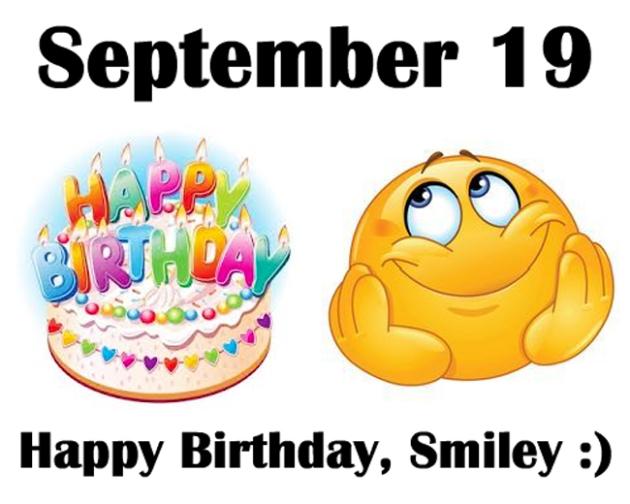 <b>Открытки</b> с днем рождения <b>смайлика</b>. <b>Смайлик</b> с тортом смайлик