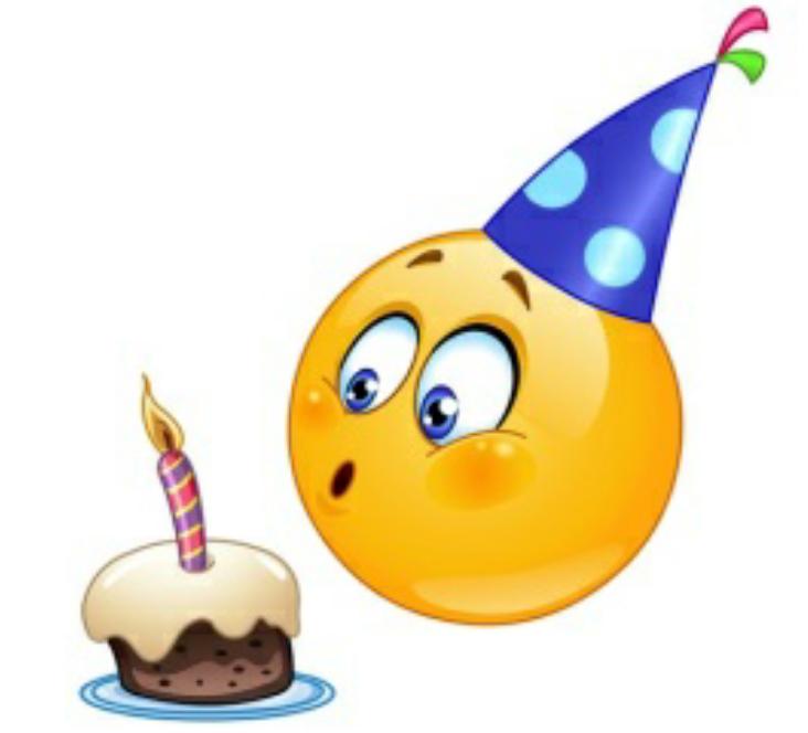 <b>Открытка</b> с днем рождения <b>смайлика</b>. Симпатичный <b>Смайлик</b> за... смайлик