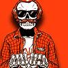 Фото на аву скелет в очках