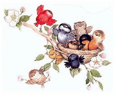 <b>Открытка</b>. День птиц! <b>Радость</b> праздника смайлик