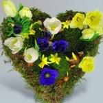 Цветы,выложенные в форме сердца