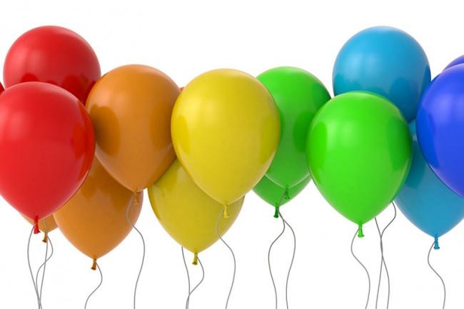 Воздушные шары картинки с анимацией